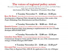 THE VOICES OF REGIONAL POLICY ACTORS