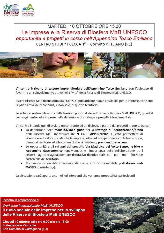 RISERVA DI BIOSFERA MAB UNESCO ED IMPRESE IN APPENNINO