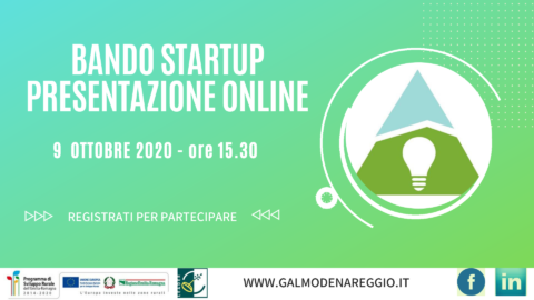 PRESENTAZIONE ONLINE BANDO START-UP