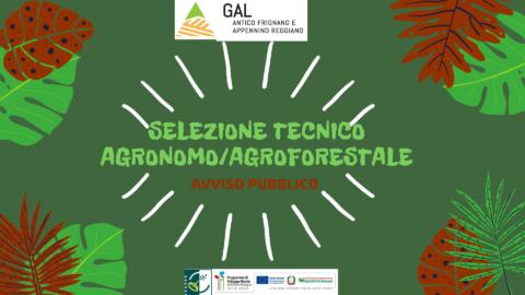 AVVISO AD EVIDENZA PUBBLICA PER LA SELEZIONE DI N.1 TECNICO  AGRONOMO/AGROFORESTALE